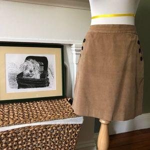 Banana Republic Light Brown Corduroy Mini-Skirt